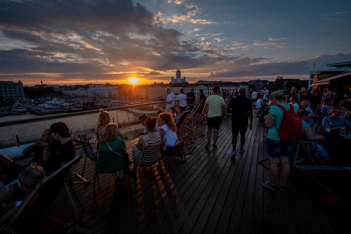 Hafen Helsinki Sonnenuntergang
