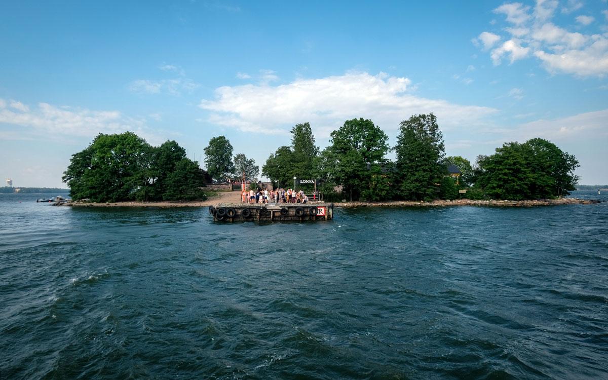 Insel Lonna vor Helsinki