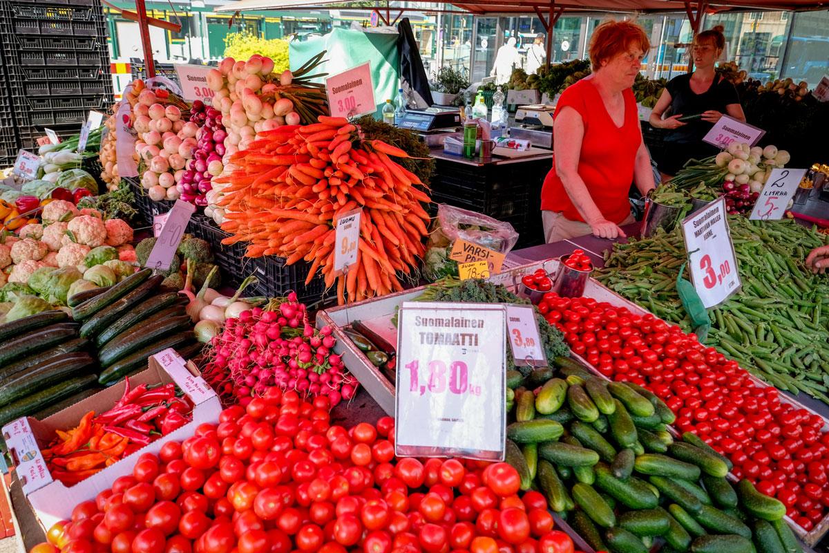 Hakaniemi Markt Erdbeeren