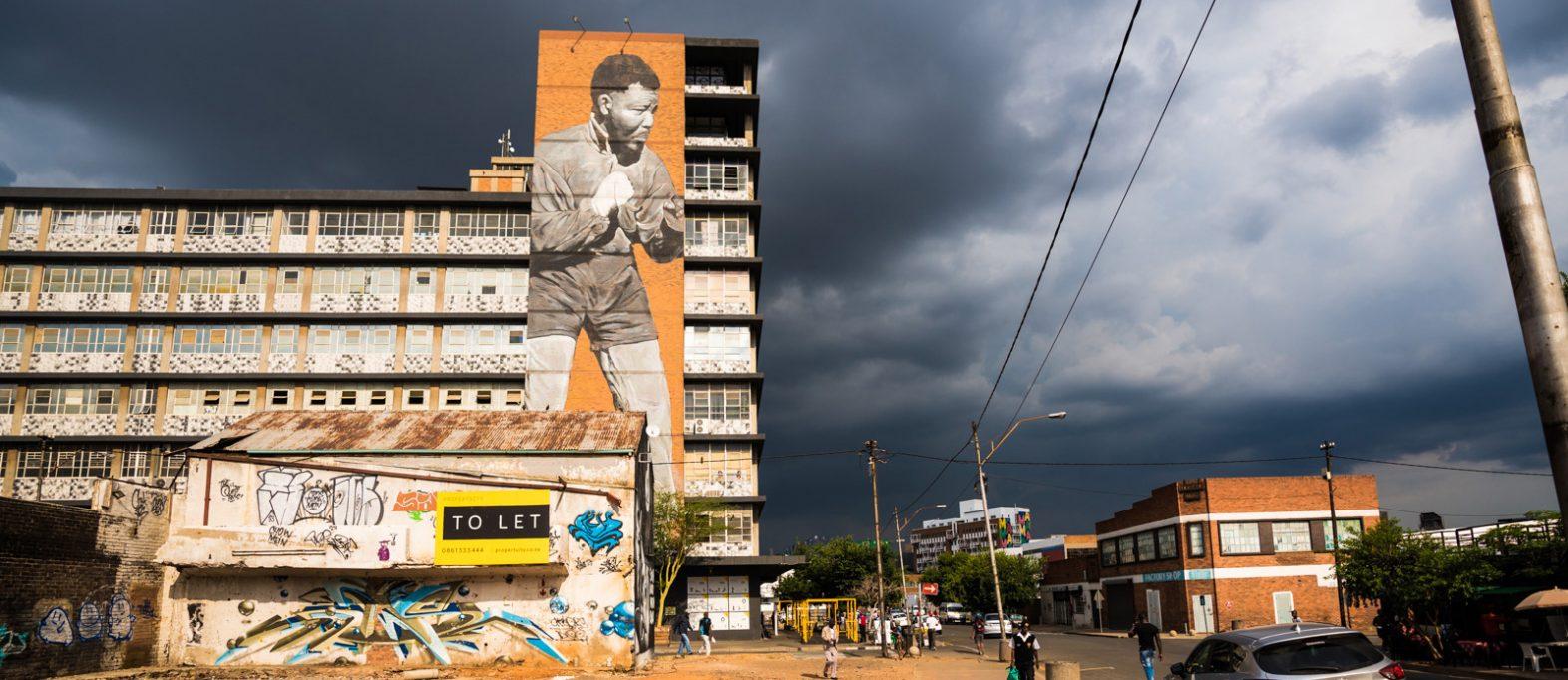 Nelson Mandela alias Muhammed Ali Mural in Maboneng