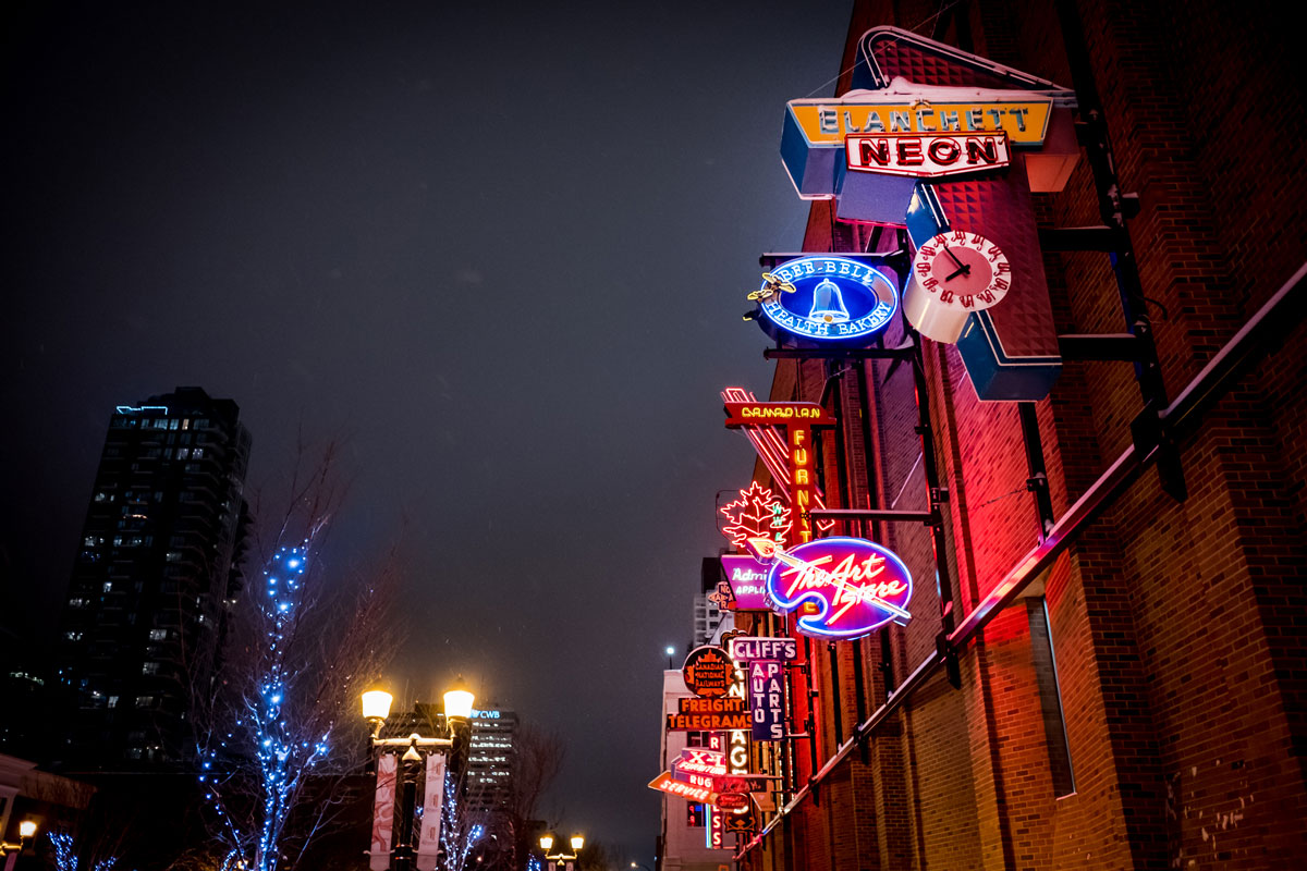 Neon Sign Museum in Edmonton