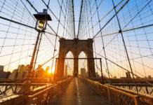 New York Brooklyn Bridge Ansicht