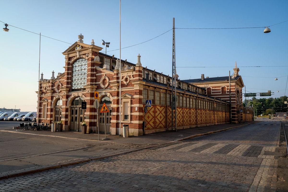 Alte Markthalle Helsinki.