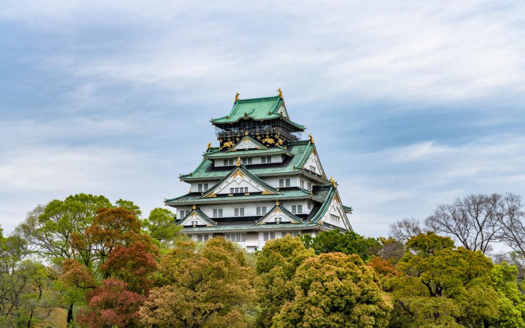 Osaka Castle Burg in Japan