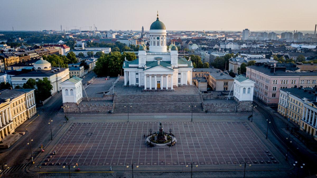 Domkirche (Tuomiokirkki) von Helsinki.