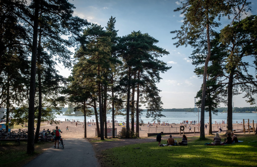 Töölö Bucht mit Stränden Helsinki