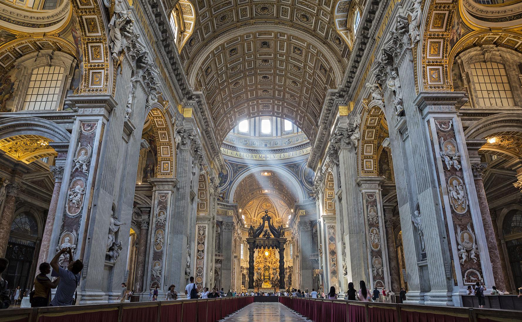 Petersdom Vatikan Besuch Sonnenstrahlen