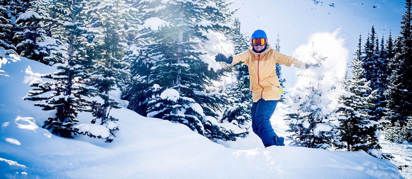 Skifahren in den Rocky Mountains (Kanada)