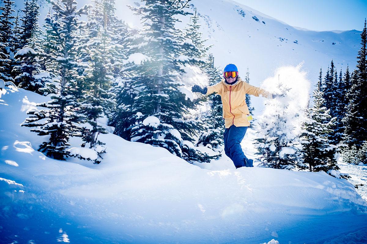 Skifahren in Kanada Rocky Mountains Jasper