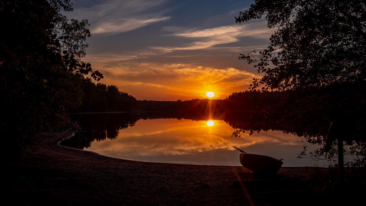 Sonnenuntergang Teijo Nationalpark