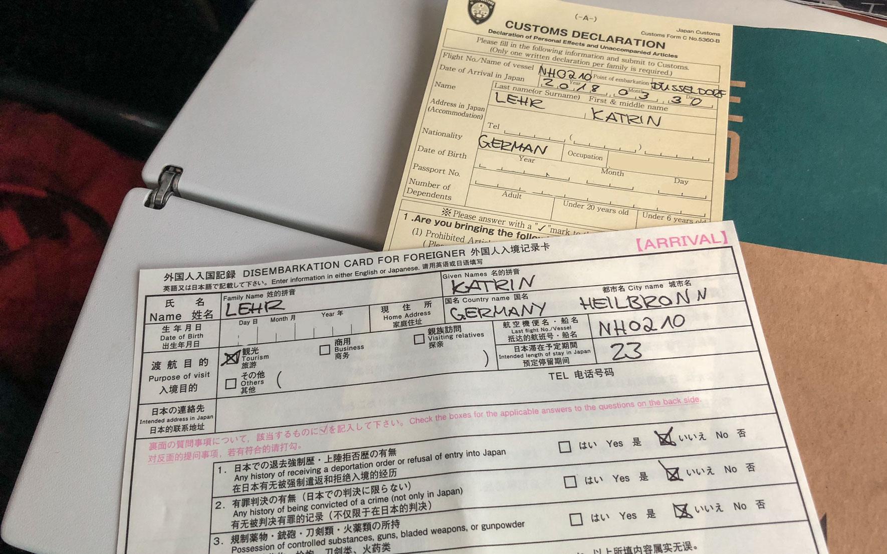 Einreisebestimmung für Japan