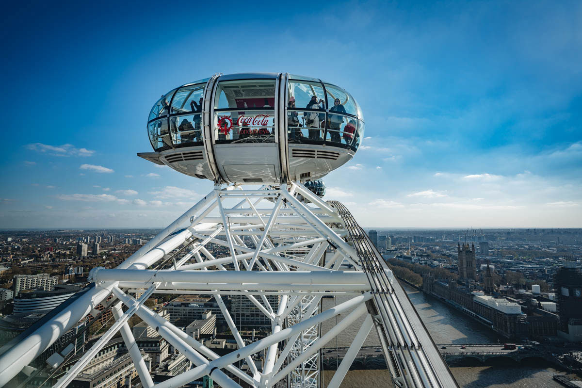Riesenrad London Eye Aussicht