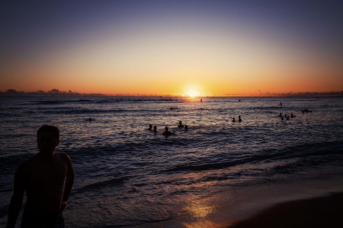 Waikiki Beach Sonnenuntergang