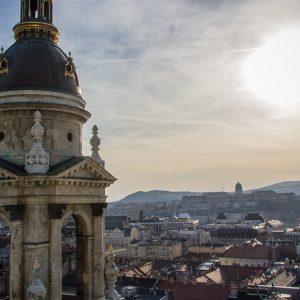 Sonnenuntergang Budapest Ausblick