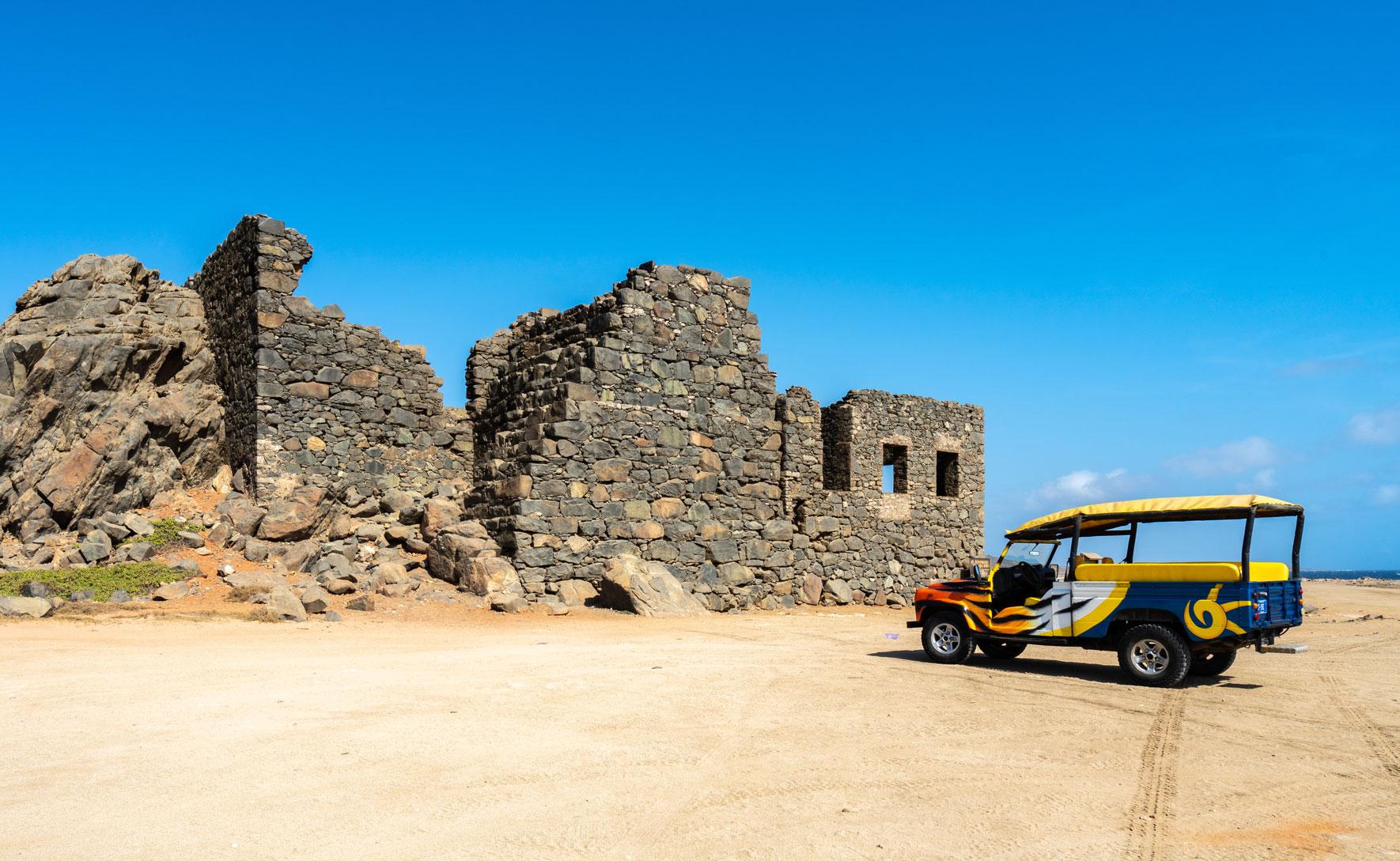 Ruinen Bushiribana Goldmine Aruba