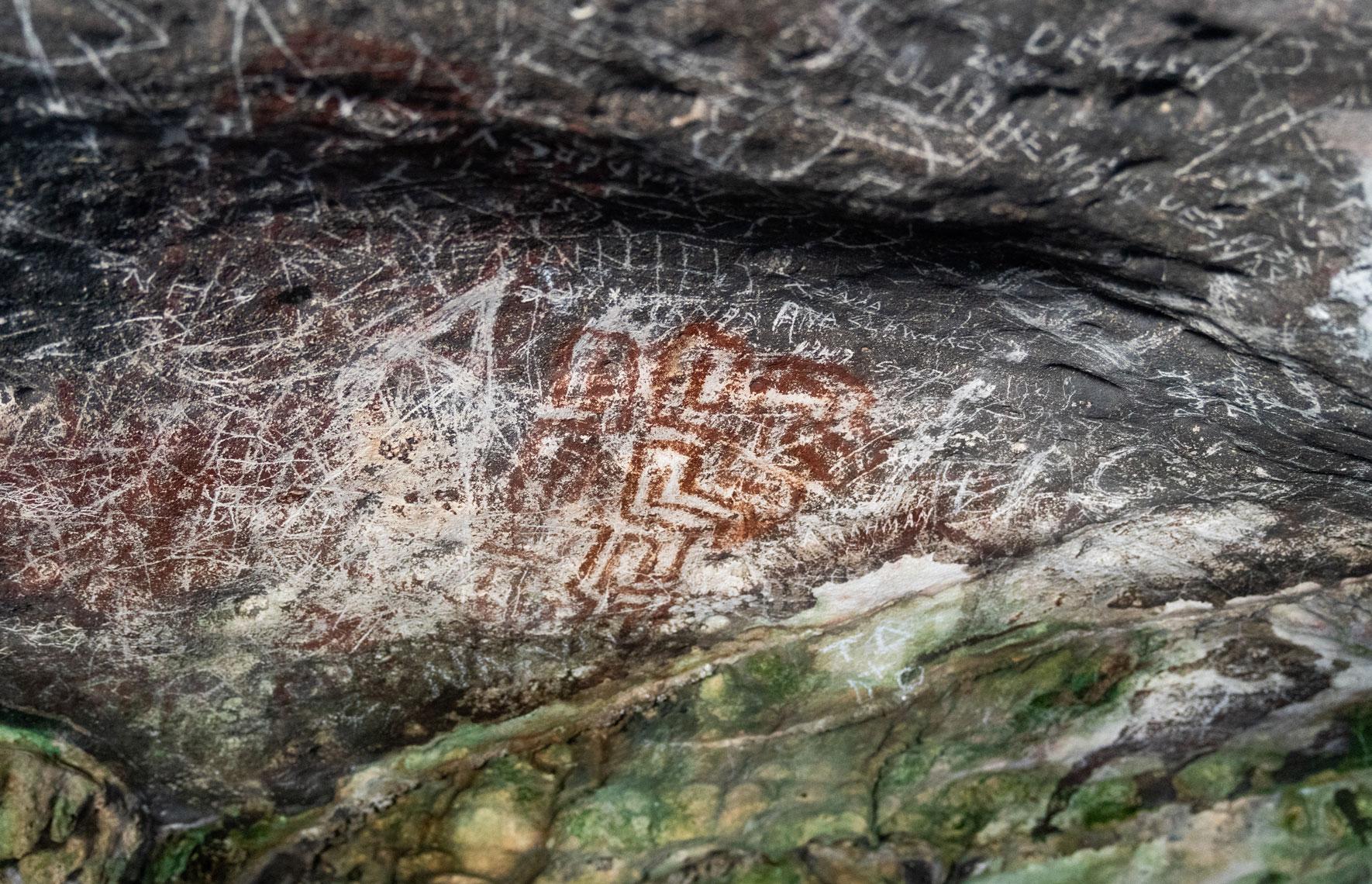 Fontein Cave Aruba Zeichnungen