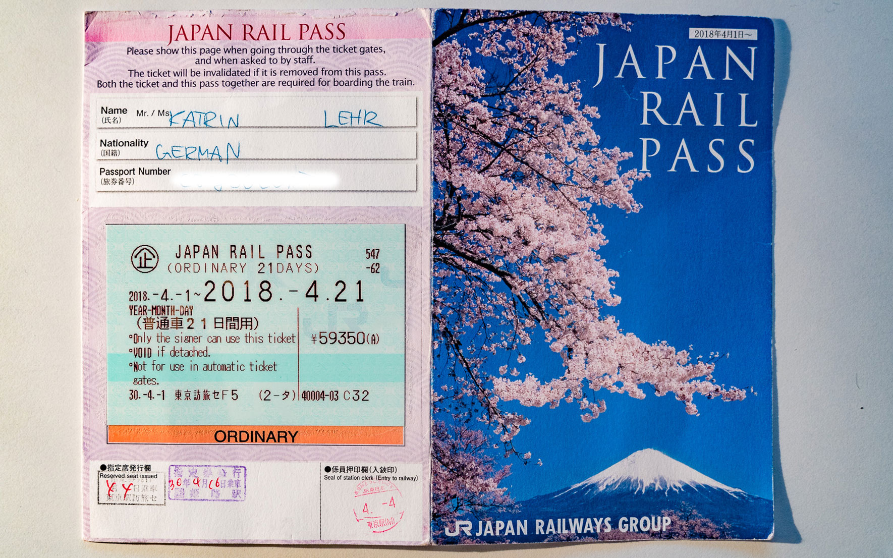 Japan Rail Pass 21 Tage