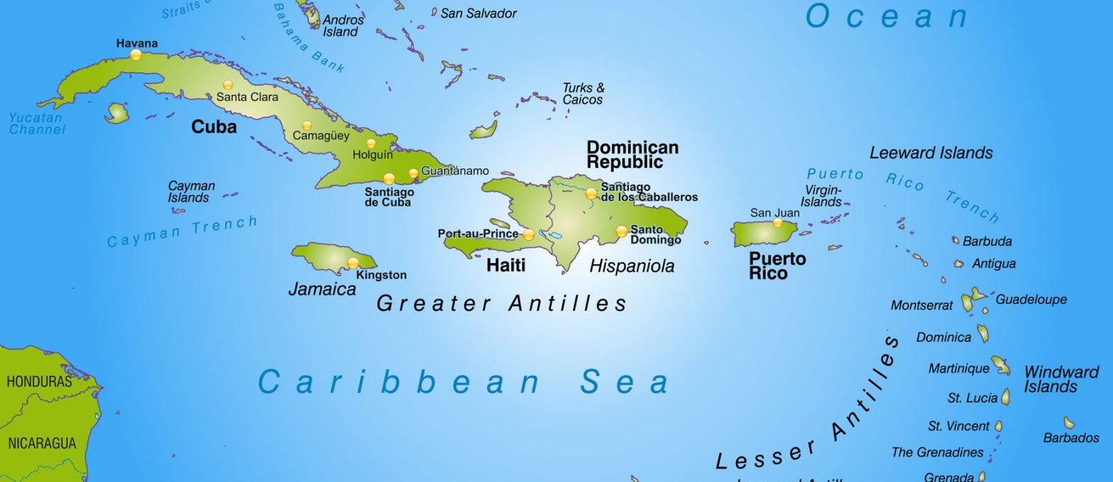 Karte der Karibik