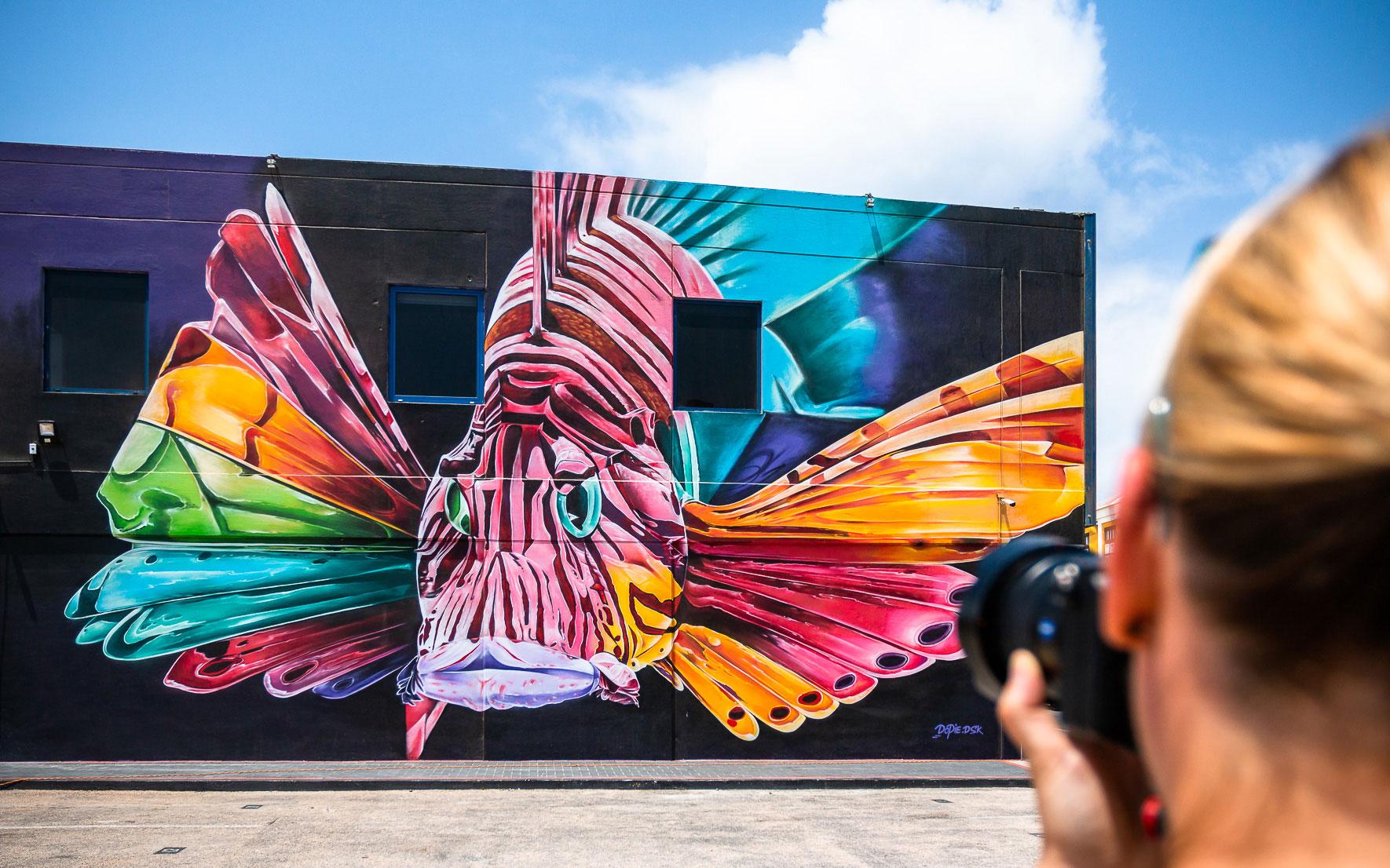 Lionfish Dopie Street Art Aruba