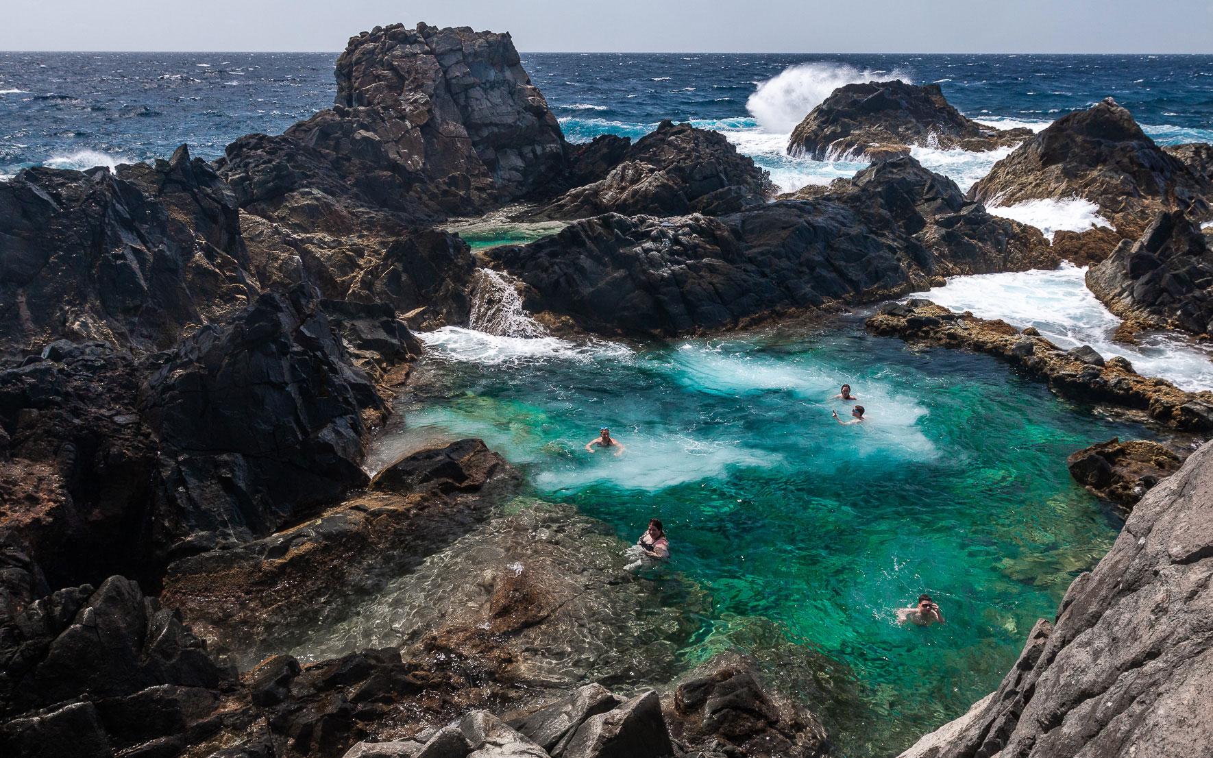 Bad im Natural Pool, Arikok Nationalpark, Aruba