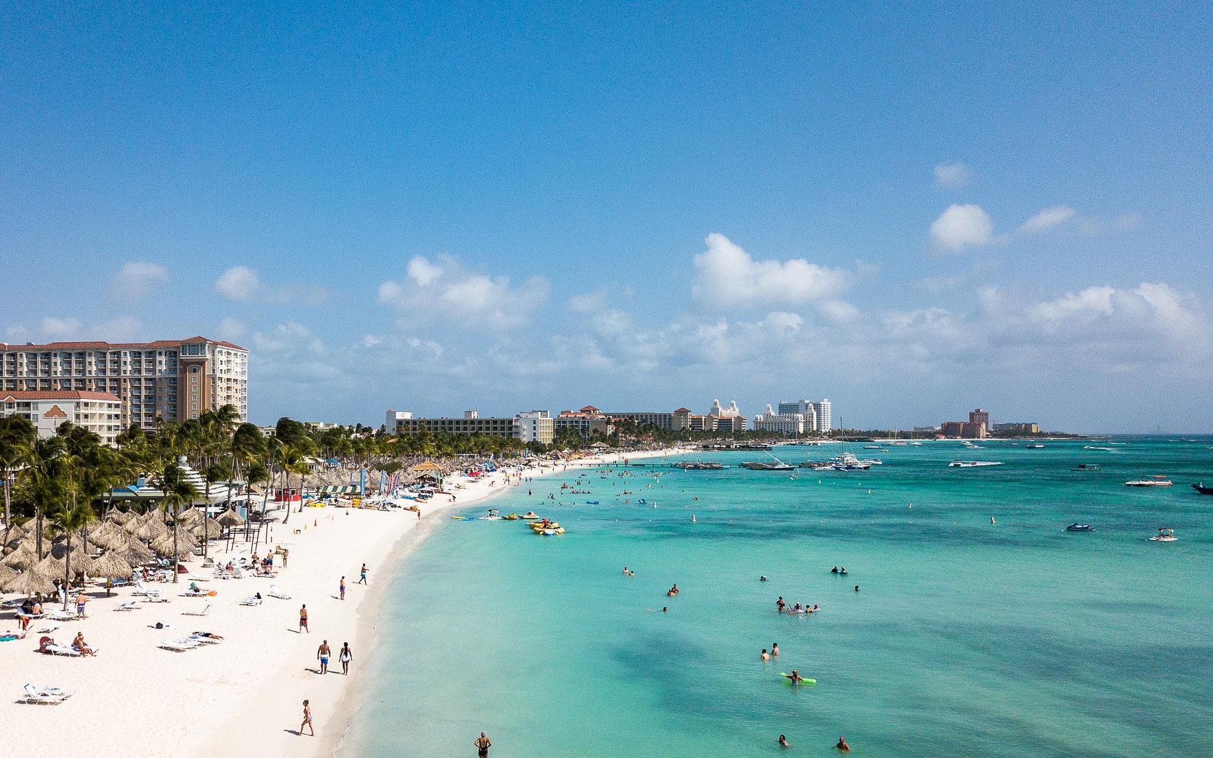 Palm Beach Aruba Luftaufnahme