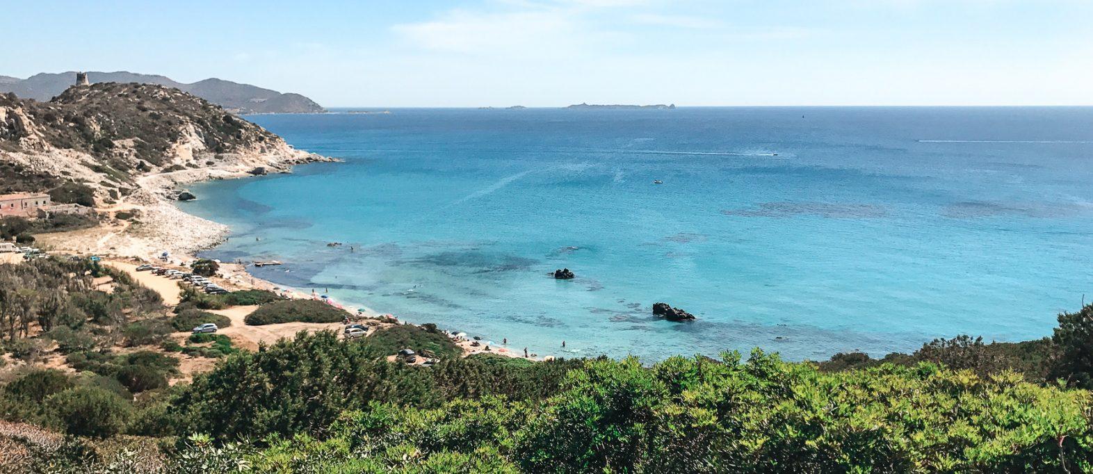 Küste im Süden Sardinien