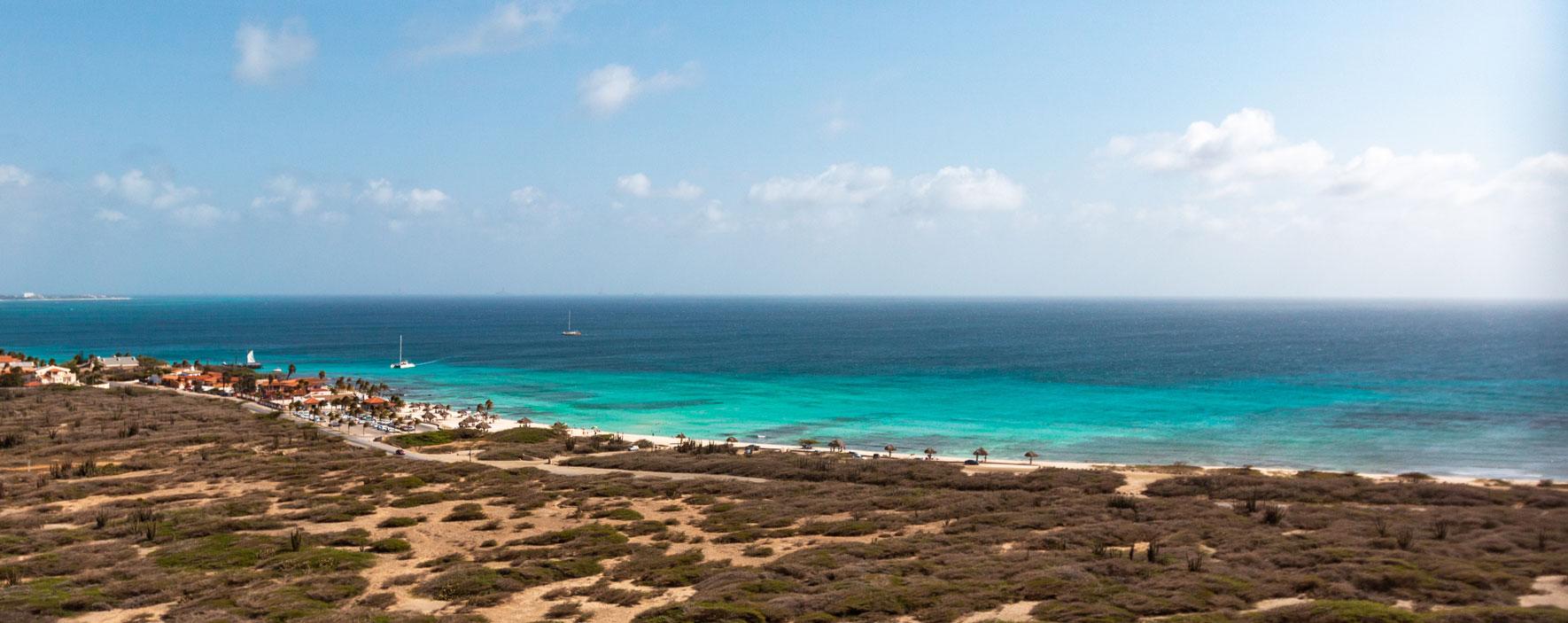 Aussicht vom California Lighthouse, Aruba.