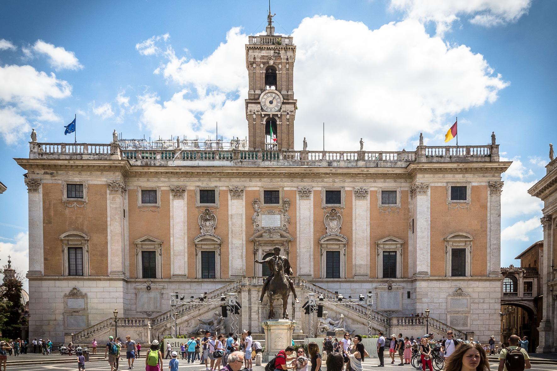 Senatorenpalast auf Kapitol Hügel in Rom