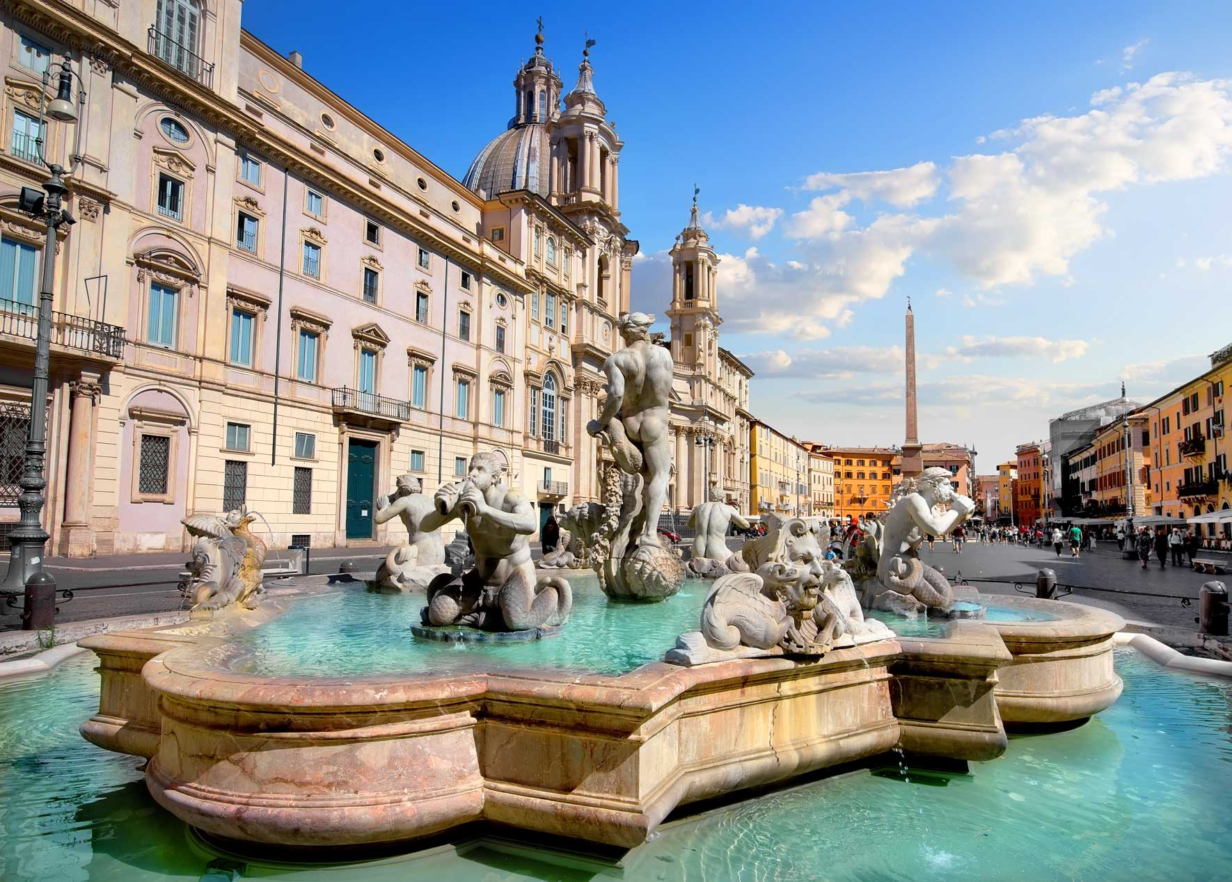 Piazza Navona mit Brunnen