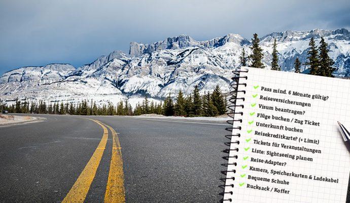 Roadtrip Packliste