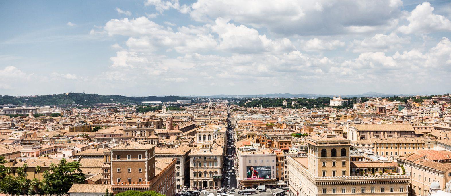 Ausblick Vittoriano in Rom