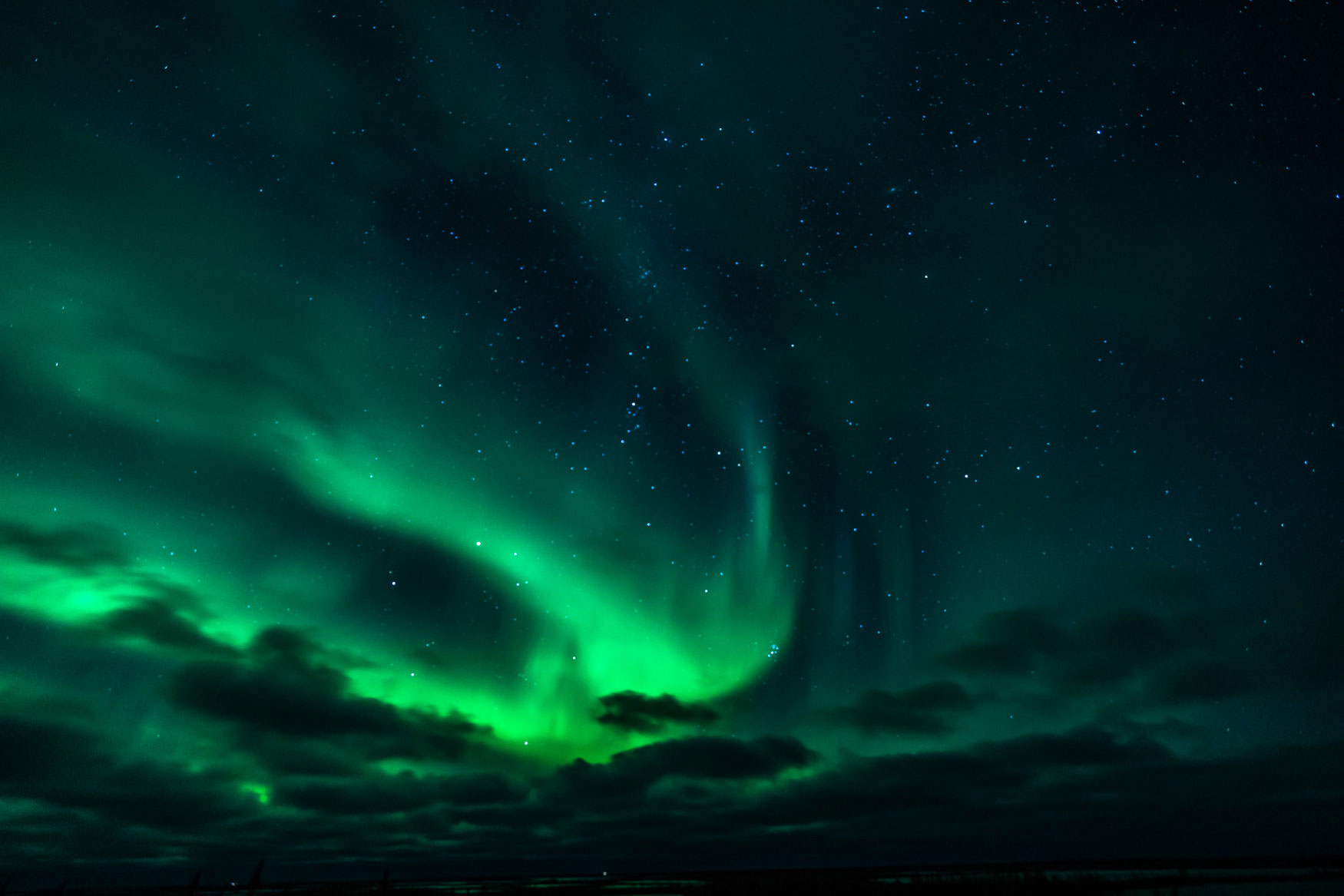 Nordlichter sehen in Churchill Kanada