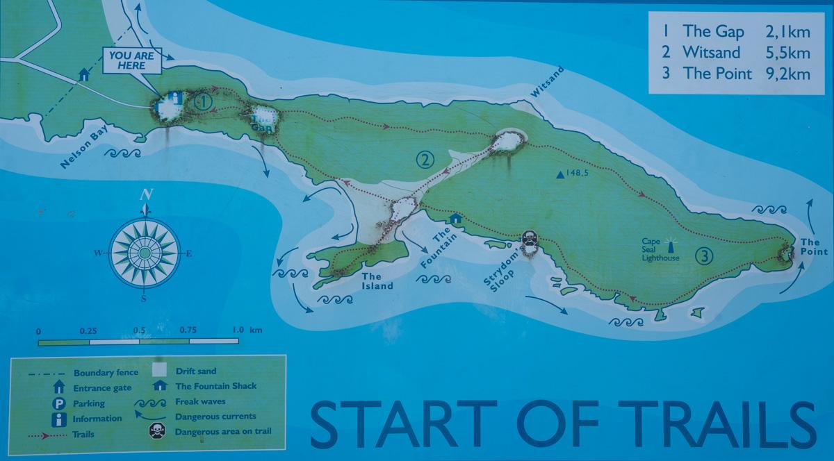 Karte Robberg Nature Reserve