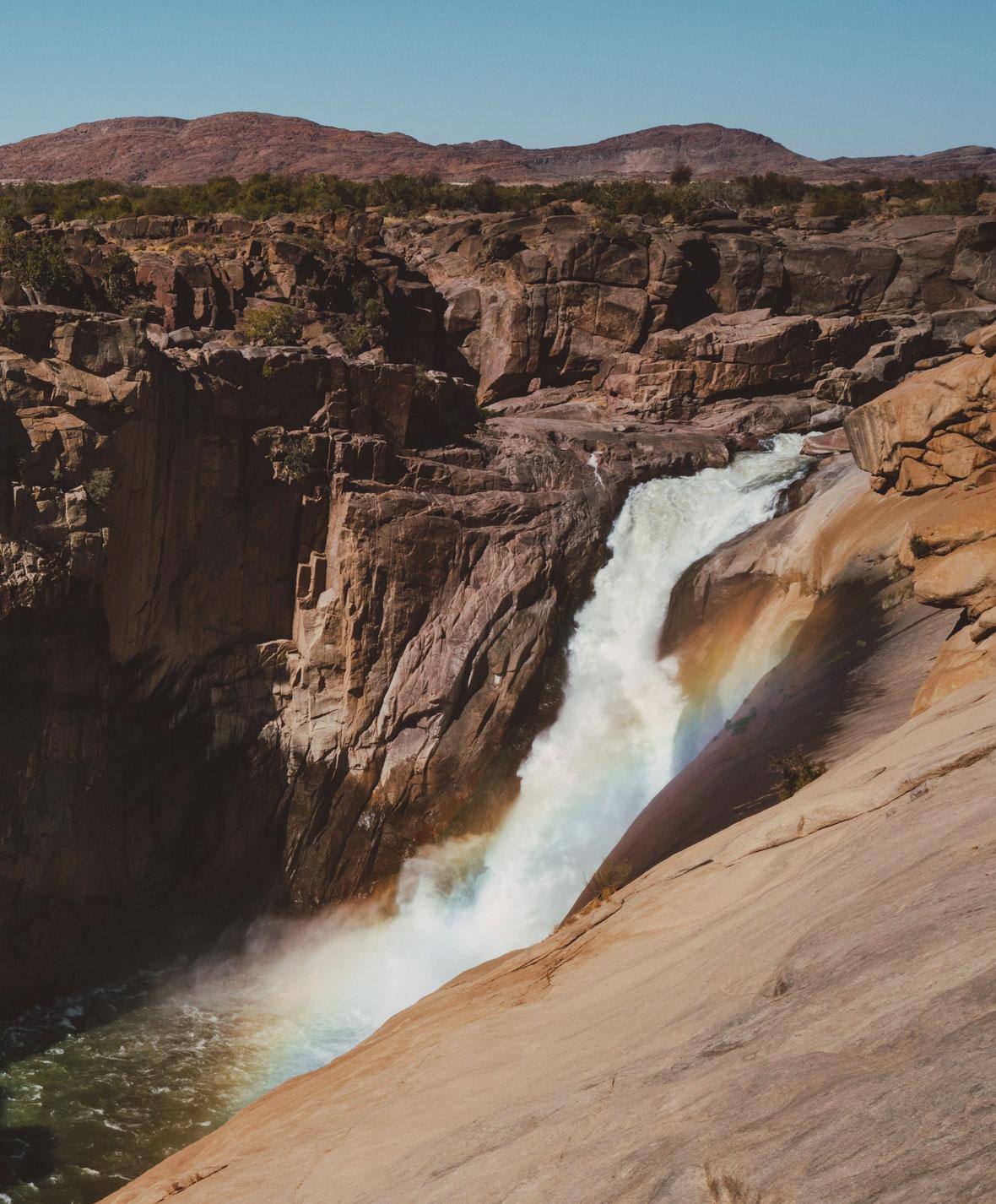 Augrabies Falls mit Regenbogen