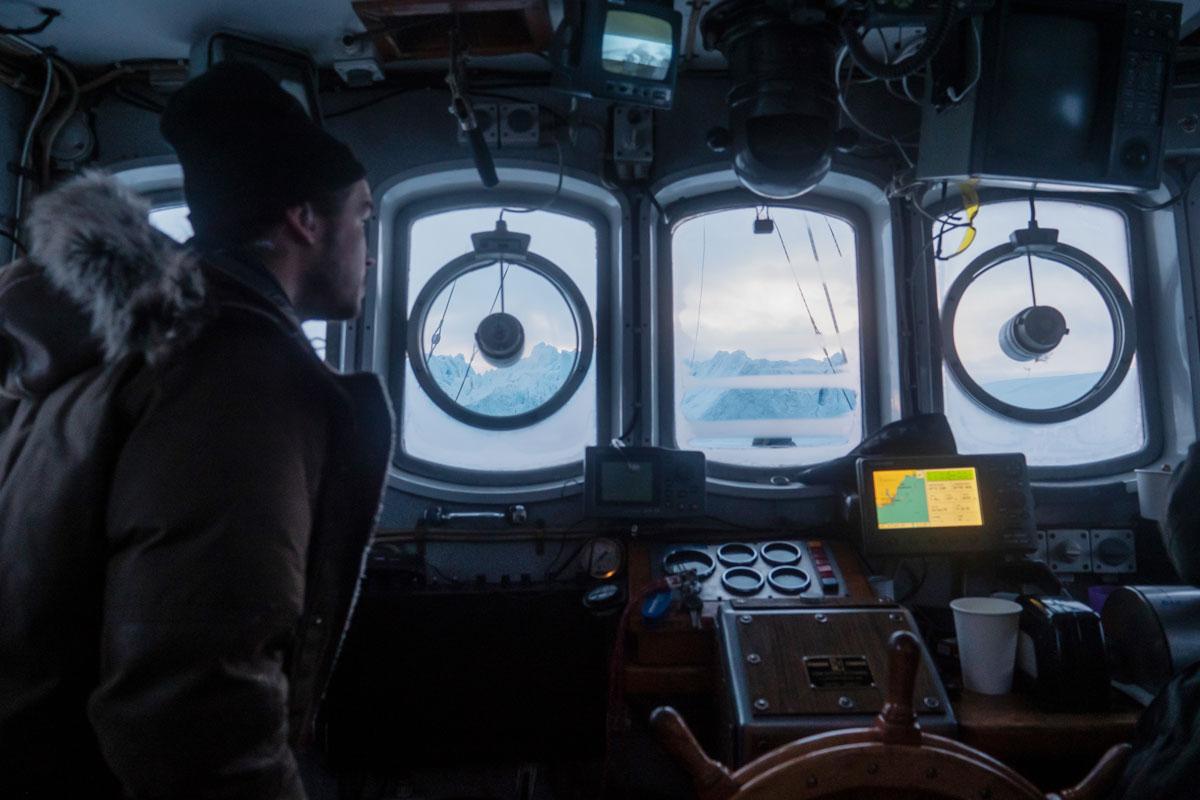 An Bord in der Dikskobucht