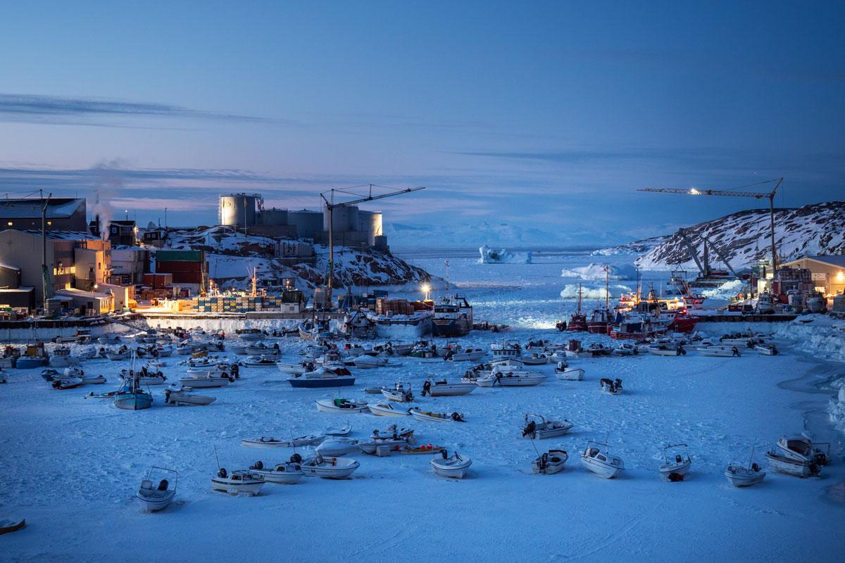 Ilulissat Hafen Winter