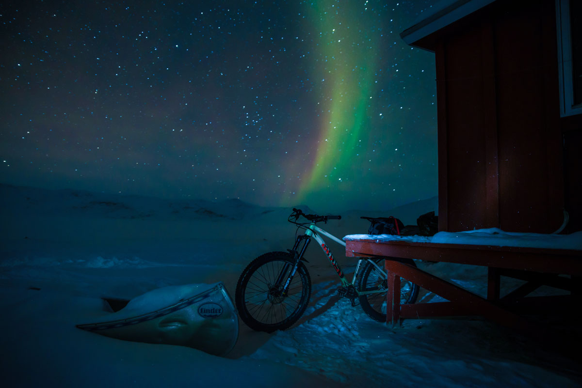 Tanzende Nordlichter Arctic Circle Trail.