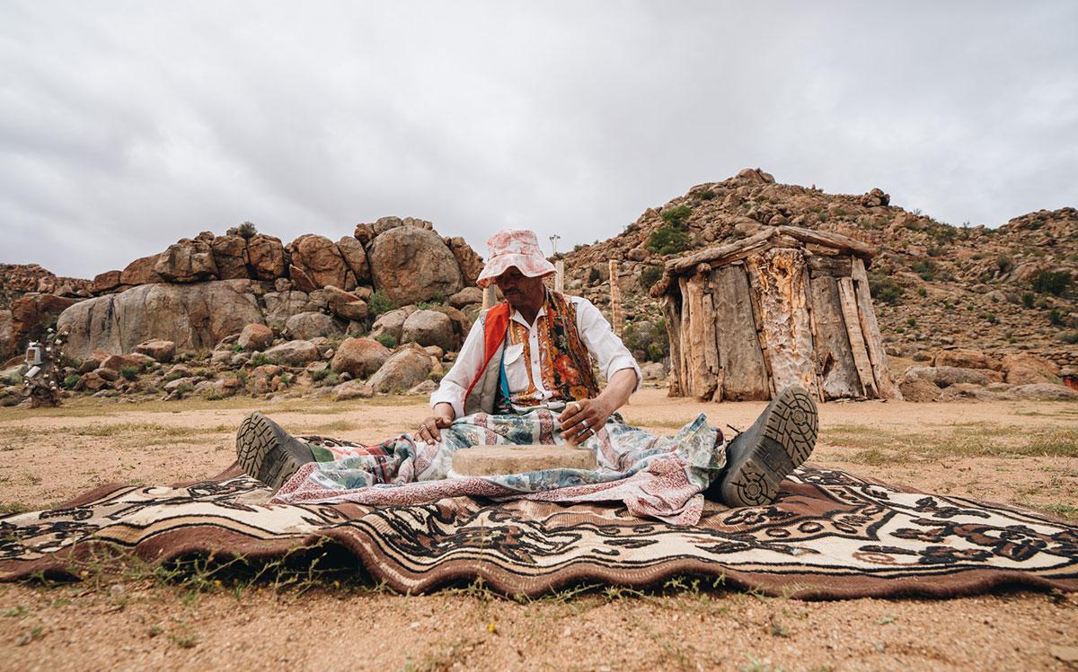 Mehl mahlen - Nourivier Cultural Village - Northern Cape