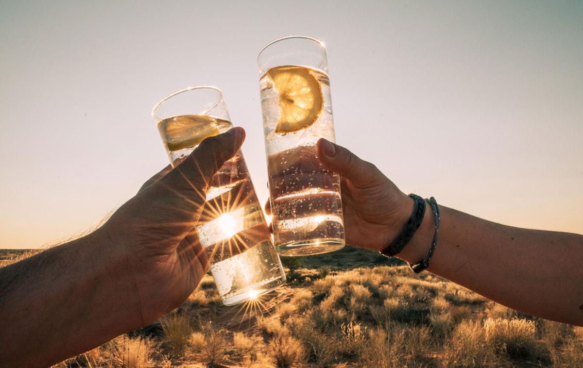 Kalahari Südafrika Sundowner