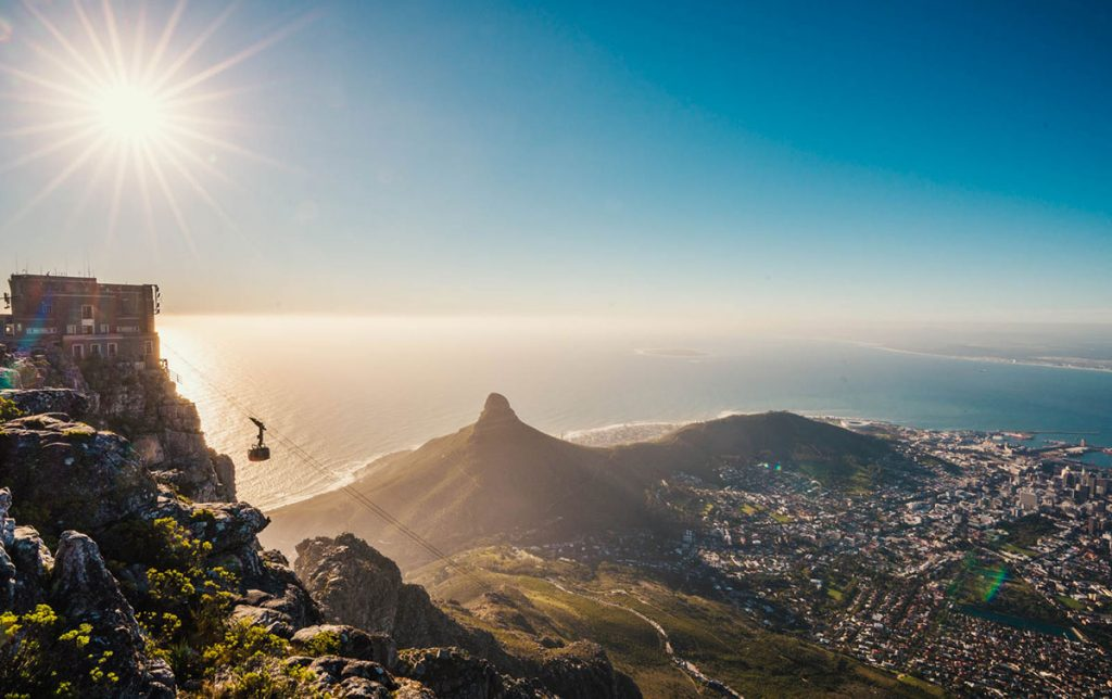 Tafelberg Kapstadt Sonnenuntergang