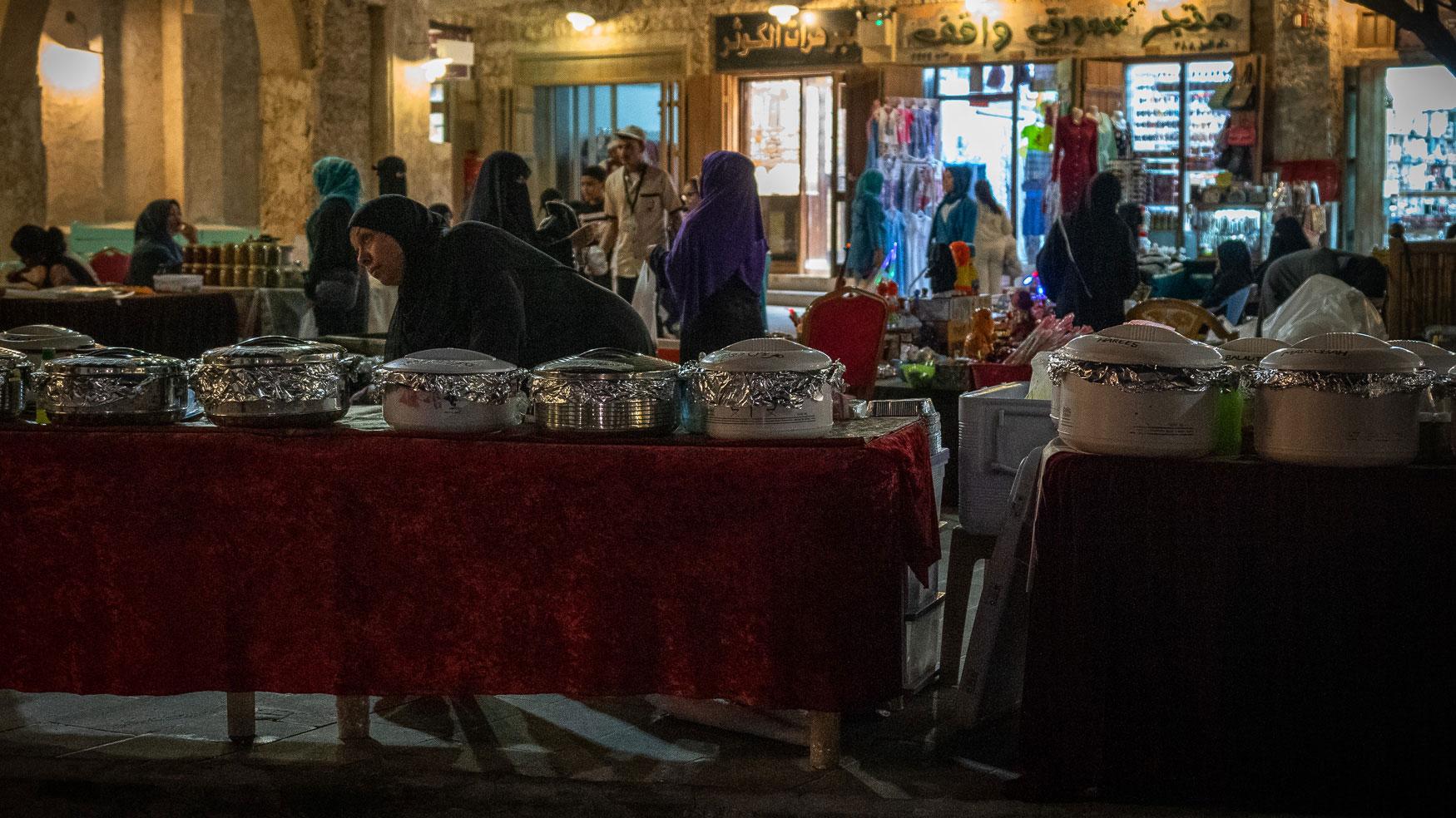 Doha Tipps Essen Platz am Souk Waqi