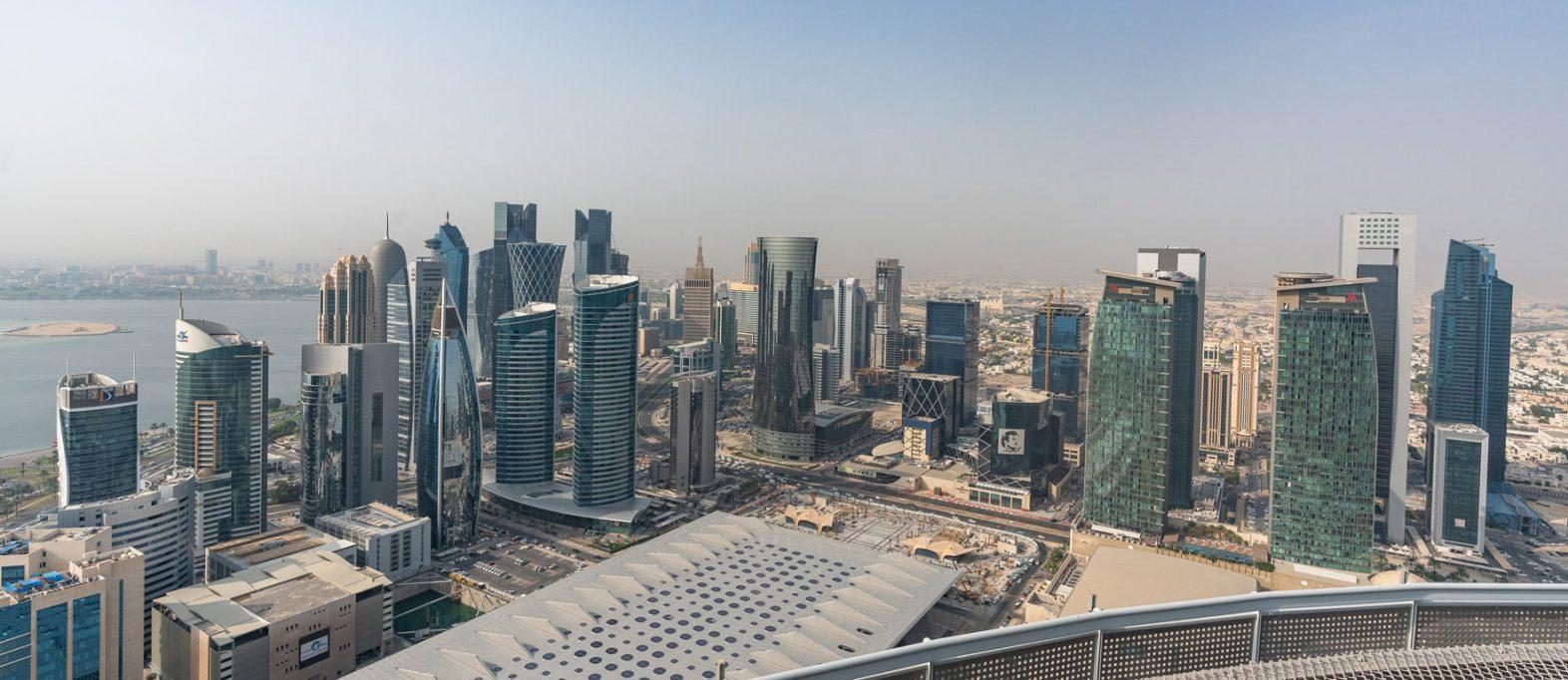 Aussicht vom Heli-Pad Shangri-La Doha