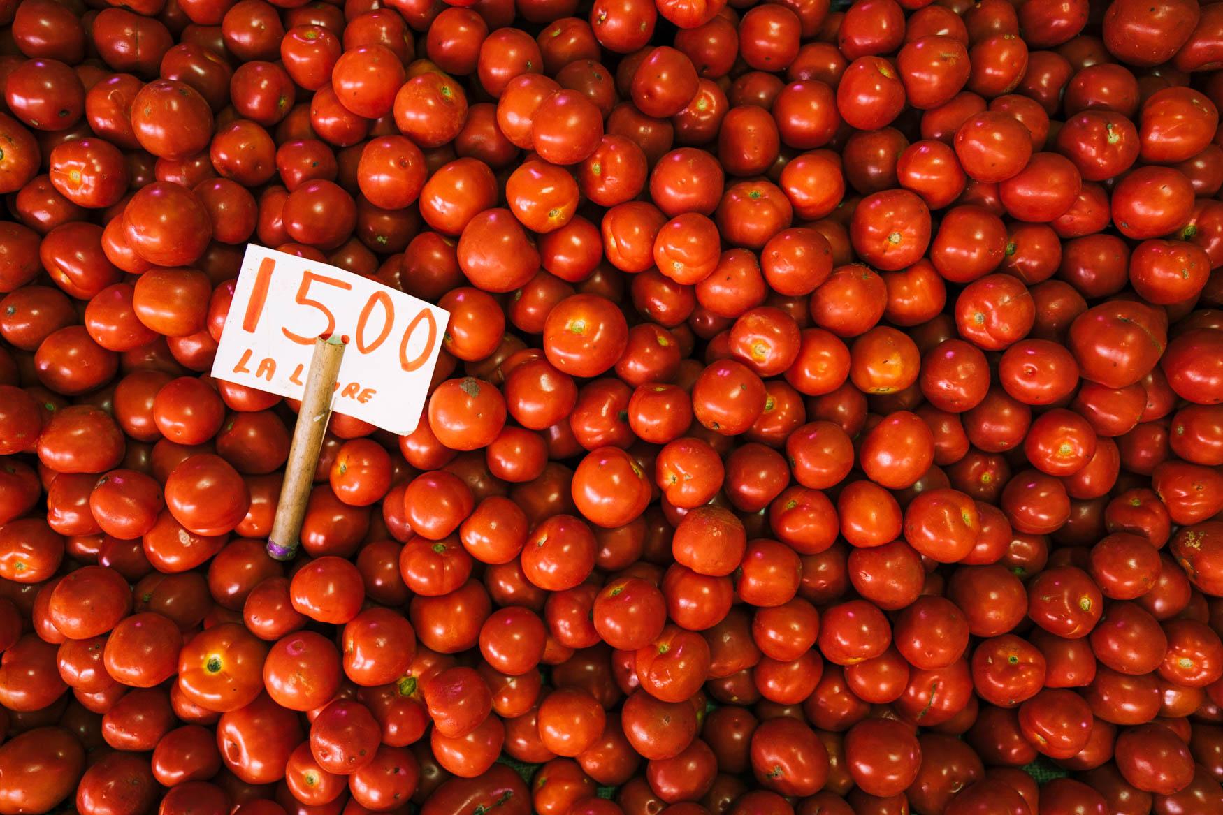 Tomaten im Zentralmarkt in Port Louis