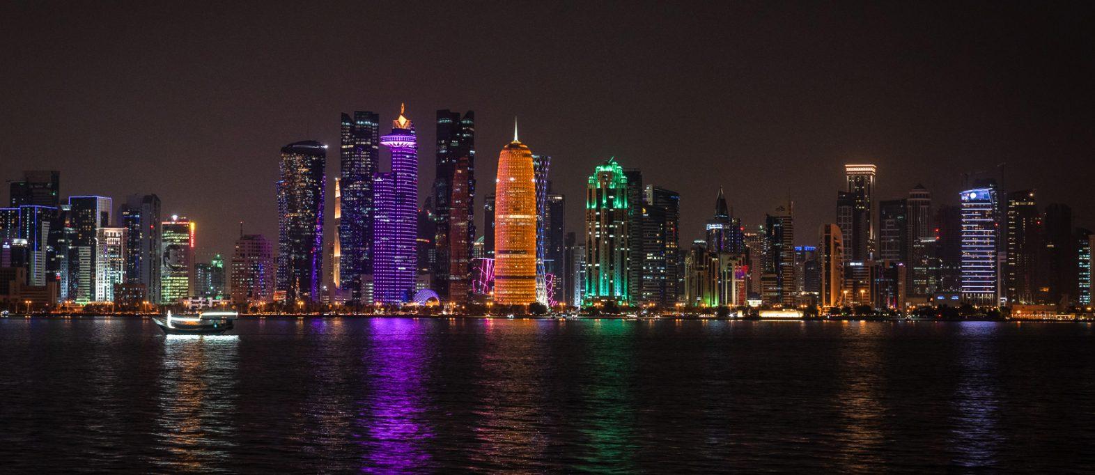 Qatar Tipp Doha Skyline bei Nacht