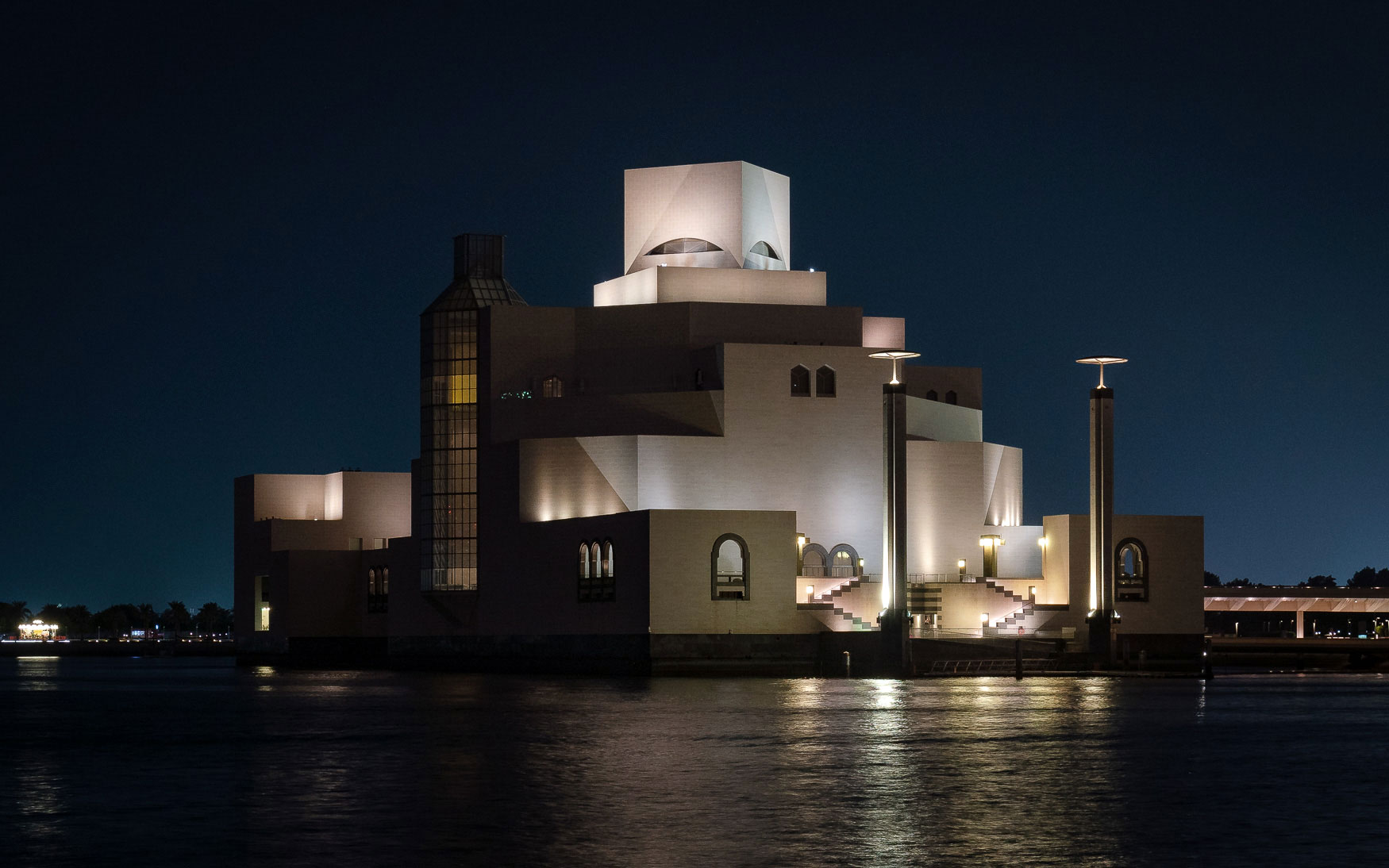 Museum of Islamic Art (MIA) bei Nacht, Doha