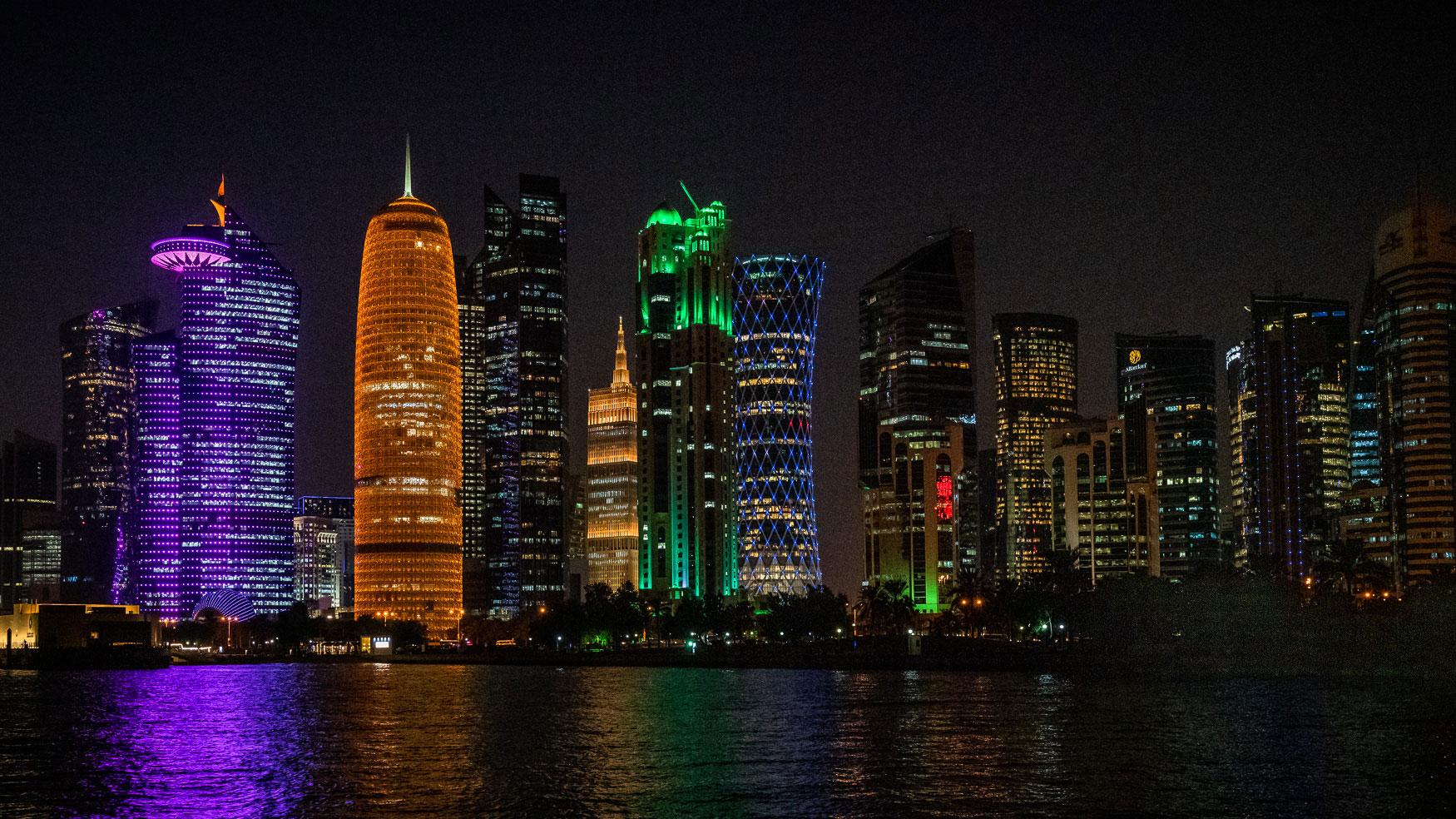 Skyline Westbay in Doha, Qatar.