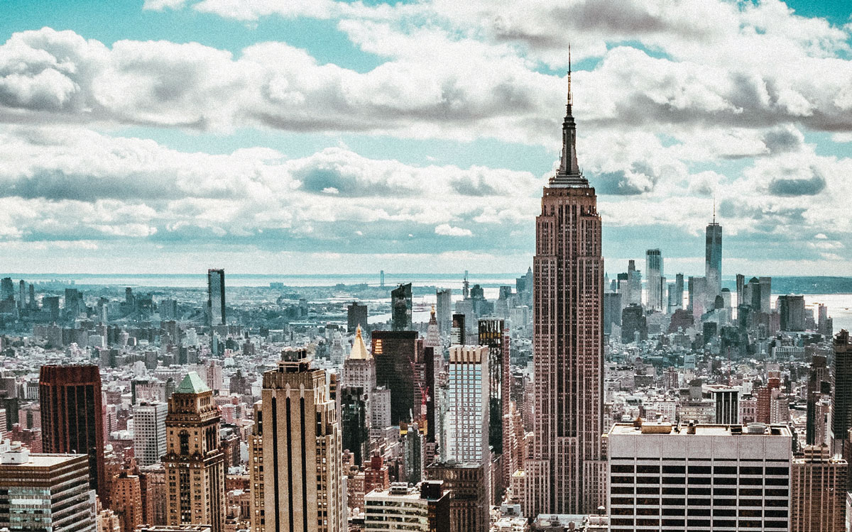 Wahrzeichen New York: Das Empire State Building.