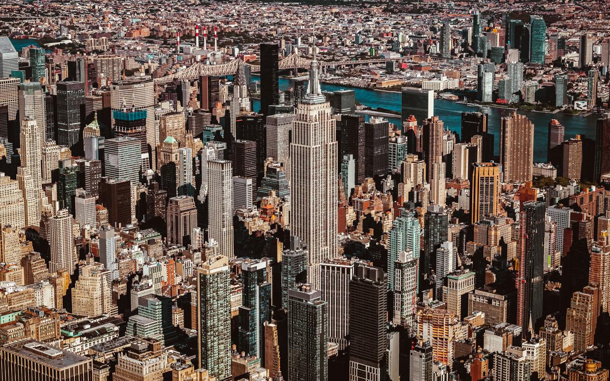 Eine der Top-10-Sehenswürdigkeiten in New York: Aussicht vom Empire State Building!