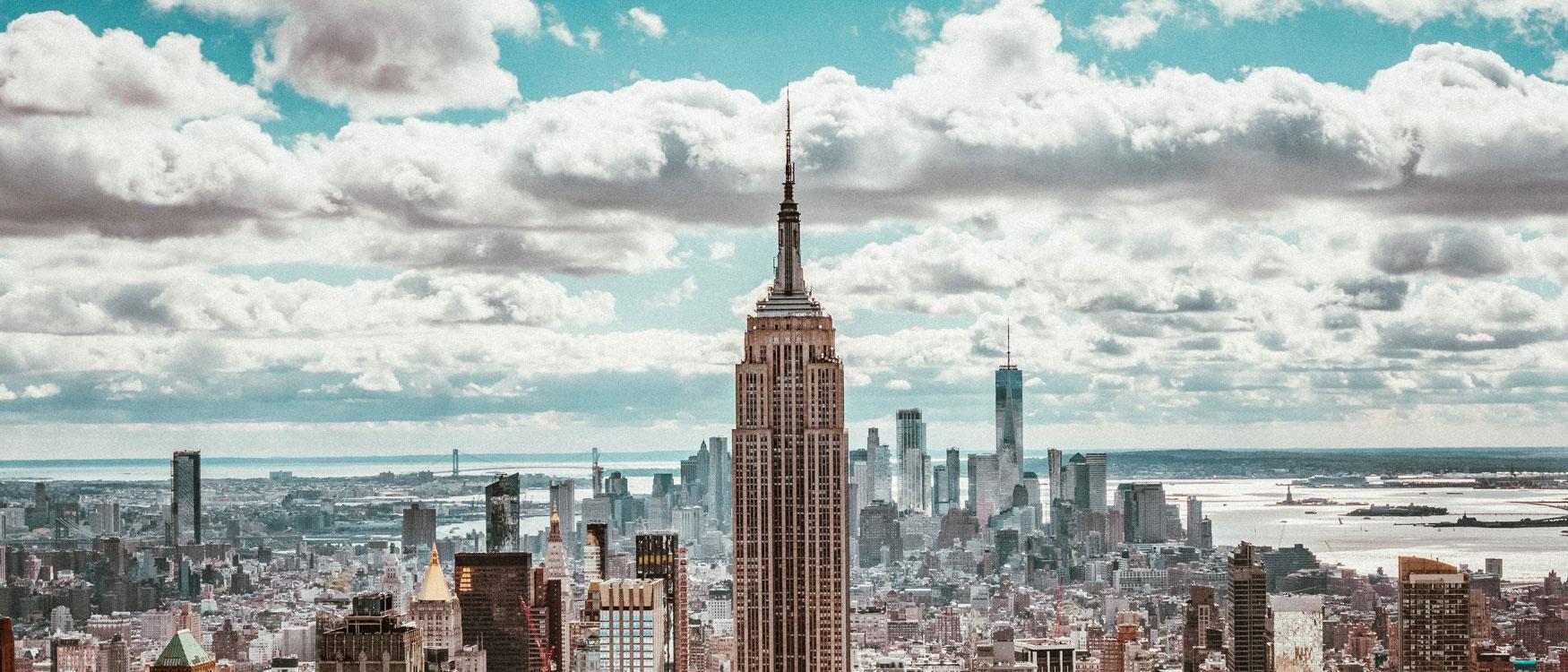 Sehenswürdigkeiten New York Empire State Building Blick.