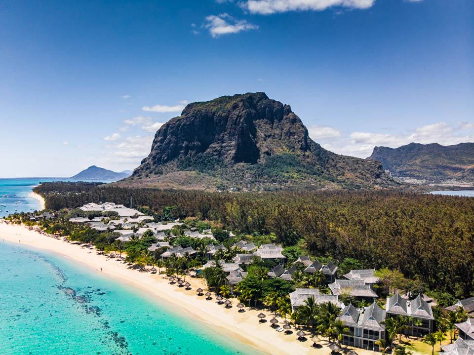 St. Regis Mauritius Hotel Dronenaufnahme
